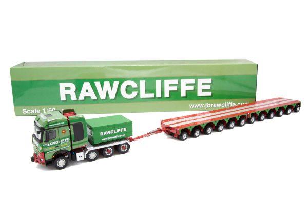 rawcliffe-mercedes-benz-arocs-8×4-ballastbox-drawbar-met-een-2×6-assige-module-trailerr