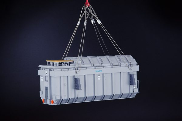 heavy-transformer-with-lifting-cables